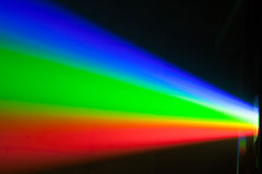 Rgb spectrum light of projector stock image