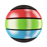 RGB sphere. Three-colored sphere Royalty Free Stock Photos