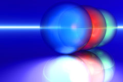 Rgb spheres. 3d render illustration stock illustration