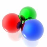 RGB spheres Royalty Free Stock Photography