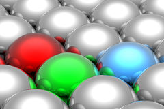 RGB spheres Royalty Free Stock Photo