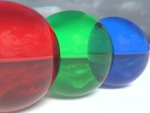 RGB Spheres royalty free stock images