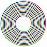RGB spiral concept photo shoot Royalty Free Stock Photo