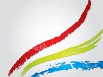 Rgb splatter. Red green blue splatter background Stock Photos