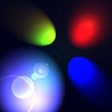 RGB spot lights. RGB colors spot lights background Stock Images