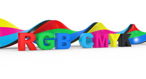 RGB to CMYK  color Stock Image