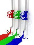 RGB valves Royalty Free Stock Photos