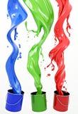 RGB Verf Royalty-vrije Stock Foto