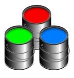 RGB Verf Stock Foto