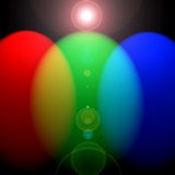 RGB vertical lights vector illustration