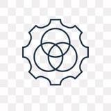Rgb wektorowa ikona odizolowywająca na przejrzystym tle, liniowy Rgb t ilustracji
