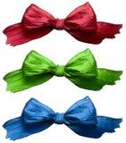 RGB Wraps. Three colorful ribbon isolated on white background royalty free stock image