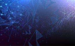 RGBAbstract futurista - tecnologia das moléculas ilustração stock