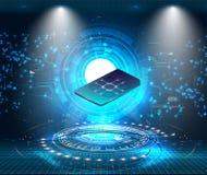 RGBeSIM karty układu scalonego znak Wbity SIM pojęcie Nowa komunikacji mobilnej technologia zdjęcia royalty free