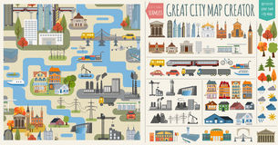 Основные RGBGreat city map creator Stock Image
