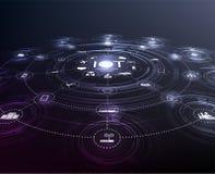 RGBInternet des choses IoT et du concept de mise en réseau illustration de vecteur