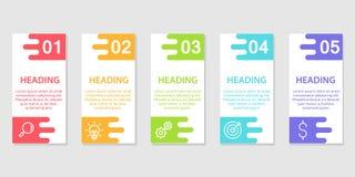 RGBWorkflow di base, disposizioni startup di concetto, di web design, di visualizzazione di dati, dell'insegna, dell'opuscolo o d illustrazione di stock