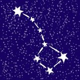 Rgeat bear constellation in the sky royalty free stock image
