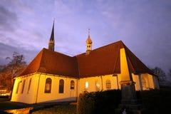 Rgenen för ¼ för kyrkaSt JÃ i Heide (Holstein) fotografering för bildbyråer
