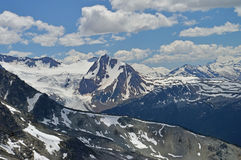 Rgged mounatin scenery (2) seen at Whistler Montain Royalty Free Stock Photos
