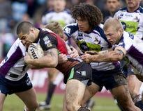 RGL: Harlequins da liga do rugby contra a tempestade de Melbourne fotos de stock