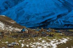Règlement antique dans les montagnes, Xinaliq, Azerbaïdjan Image stock
