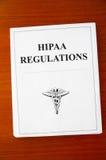 Règlements de HIPAA Photographie stock libre de droits