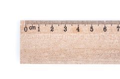 Régua de madeira Imagem de Stock