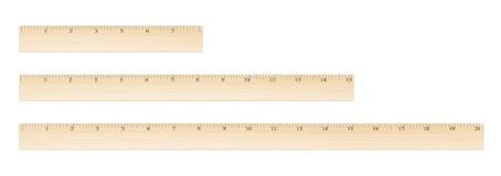 Régua de madeira do vetor Imagens de Stock