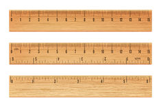 Régua de madeira do vetor Foto de Stock