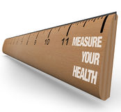 Régua - meça sua saúde Imagens de Stock Royalty Free