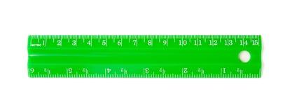 Régua verde Foto de Stock Royalty Free