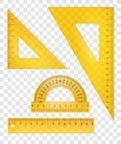 Réguas e triângulos Imagem de Stock