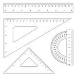 Réguas e triângulos Imagens de Stock