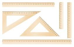 Réguas e triângulos Fotografia de Stock Royalty Free