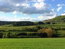 Rhoen Mountains in Germany Royalty Free Stock Photography
