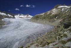 Rhône Glacier. (source of the Rhône River) in Urner Alps, Switzerland Royalty Free Stock Photo