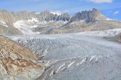 Rhône-Gletscher Stockfoto
