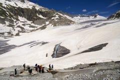Rhône-Gletscher-Expedition Lizenzfreies Stockbild