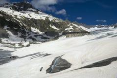 Rhône-Gletscher-Expedition Lizenzfreie Stockfotos