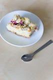 Rhabarberkuchen Stockbild