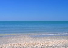 Rhapsody in blue. Immaculate blue seascape without human intrusion, Captiva Island, Florida Royalty Free Stock Photos