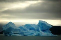 Rhapsody in Blue Ice. Blue surrealisticly formed iceberg in Parque Nacional de los Glaciares, Patagonia, ARgentina Stock Image
