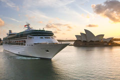 Rhapsody of the Seas cruise ship in Sydney. Royalty Free Stock Photos