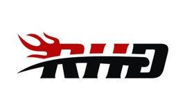RHD Ride Hard Fire. Logo Design Template Vector Stock Photo