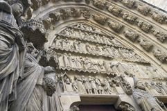 Rheims cathedral Stock Photos