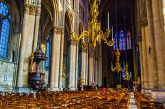 Rheims(Reims) Cathedral scene Stock Photography
