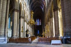 Rheims(Reims) Cathedral Stock Photography