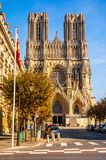 Rheims(Reims) Cathedral Stock Photo