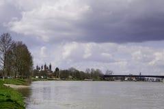 Rhein bei Soeyer Stockfoto